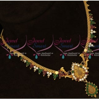 Delicate Gold Necklace Design South Indian Fashion Jewellery Low Price