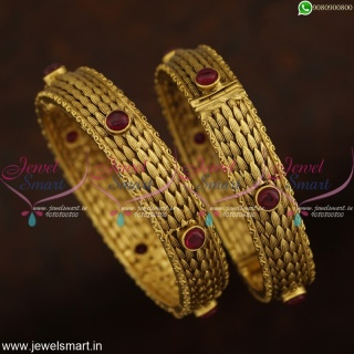 Designer Antique Bangles Online Latest Fashion Indian Jewellery Gold Plated