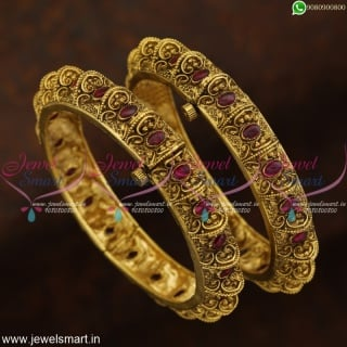 Designer Antique Bangles Online Kemp Stones Fashion Jewellery