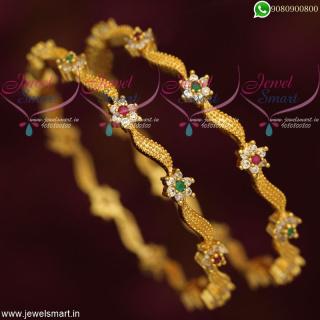 Designer Bangles Gold Plated Set New Fashion Imitation Jewellery Online B19115