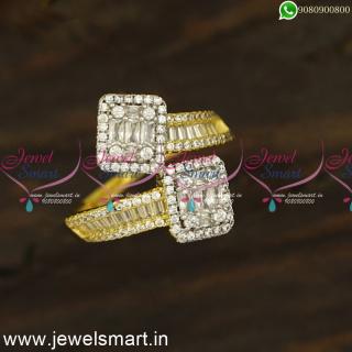 Designer Diamond Finger Rings Newest Imitation Jewellery Online Catalogue F24439