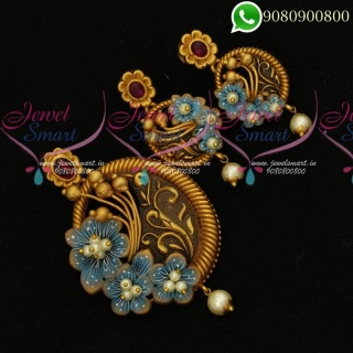 Buy Designer Jewellery Collections Online Antique Pendant Sets Latest PS19826A