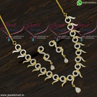 Branded Diamond Jewellery Inspired Designer Necklace Set New Fashion NL21886
