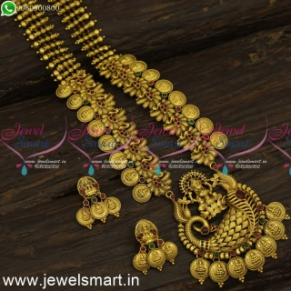 Designer Temple Jewellery Long Necklace Ideas to Look Strikingly Different NL24220