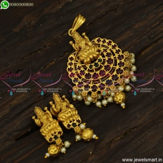 Divine Temple Jewellery Dollar Designs For Short Chains Tiny Ear Studs PS23811