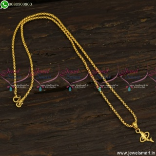 Dolphin Pendant Gold Design Chain Latest Daily Wear Jewellery Low Price CS23498