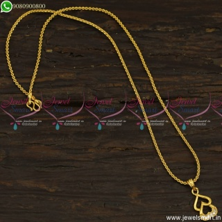 Double Heart Chain Pendant Designs Thin Gold Plated Jewellery CS23494