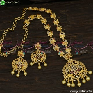 Elegant Designer Jewellery Latest Gold Necklace Designs In Imitation Online NL23647
