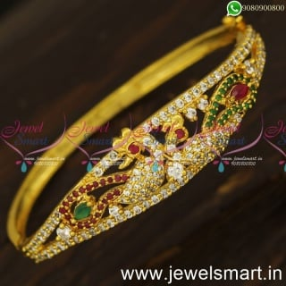 Elegant Peacock Gold Bracelet Design Preferred South Indian Covering Jewellery  Online B24057