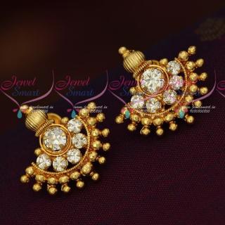 Elegant Stone Studs Kal Thodu Gold Plated Screwback Earrings Online ER18298A
