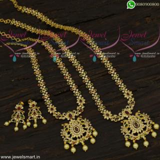 Enduring CZ Fashion Jewellery Combo Mini Bridal Set Time Saver Collections NL21928