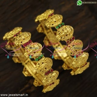 Exclusive Nagas Temple Jewellery Traditional Gold Bangles Designs Shop Online B23973