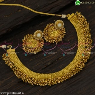 Fabulous Colour Beads Fashion Jewellery Jhumka Set Famous During Indian Festivals NL22849