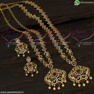 Fabulous Ideas of Long Gold Necklace Combo In Artificial Jewellery Online NL22696