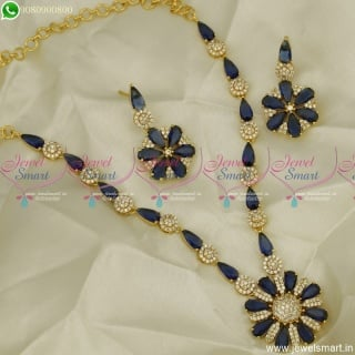 Fanciful Colour Stones Gold Plated Necklace Set Admirable Design Latest Jewellery NL23547