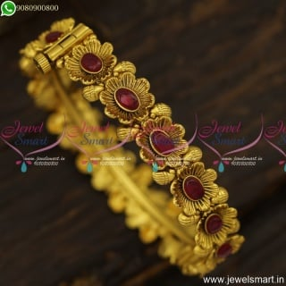 Fanciful Ruby Bracelet Style Designer Gold Bangles Antique Fashion Jewellery B23840