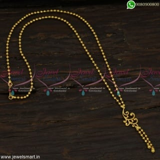 Fancy Ball Chain Gold Plated Jewellery Latest Stylish Collections onlineC23114