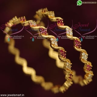 Fancy Bangles Online Shopping Gold Designs Latest Fashion Daily Wear B19112