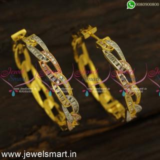 Fancy Bracelet Style Big CZ Designer Bali Earrings Trending Imitation Jewellery OnlineER24470