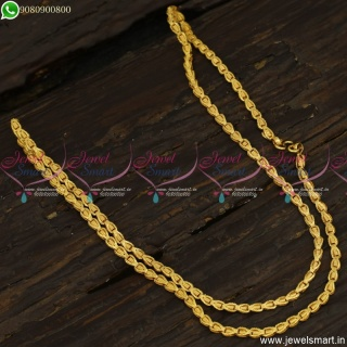 Fancy Cutting Gold Chain Designs In Imitation 24 Inches New Patterns C23524