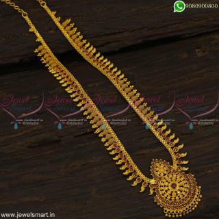 Fancy Design One Gram Gold haram Latest Artificial Jewellery Long Lasting ColourNL19149
