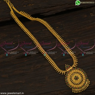 Fancy Gold Model Long Necklace Light Weight Artificial Jewellery Low PriceNL22801
