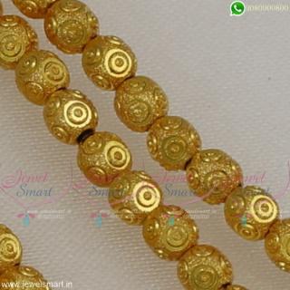 Fashion Jewellery Beading Materials Online 4 MM Lightweight Golden BeadsJB22524