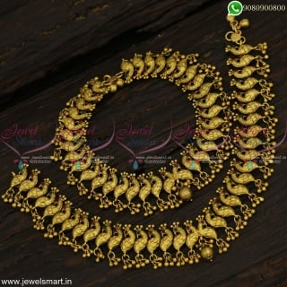 Fashionable Antique Jewellery Peacock Anklets for Bride Handcrafted Imitation Online A22998