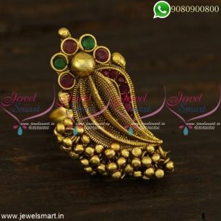 Finger Fings Indian Jewelry Antique Gold Plated Shell Design Collections