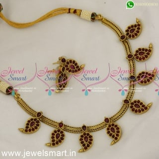 Flat Chain Manga Attigai Traditional Gold Necklace Designs Chain One Gram Antique