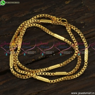 Flexible Premium Gold Plated Chains 24 Inches Daily Wear Covering Jewellery Online C23512