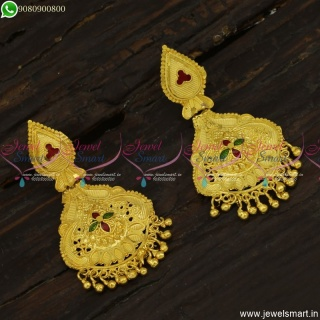 Forming Jewellery Style Meenakari Earrings Latest Gold Plated Collections Online ER23418