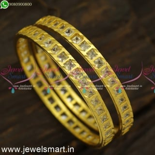 Gajulu Models Handcrafted Gold Bangles Design In Precision Latest Valayal B24564