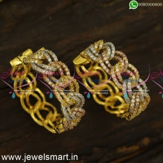 Get More Fans With Admirable Fashion Earrings Bali Form Tri Colour GoldER24493