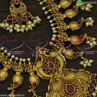 Glorious Gold Design Haram Splendid Temple Jewellery Antique Collections