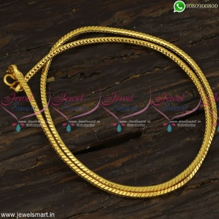 Glossy Round Kodi Trending Artificial Gold Chains Latest Copper Metal Jewellery C23258