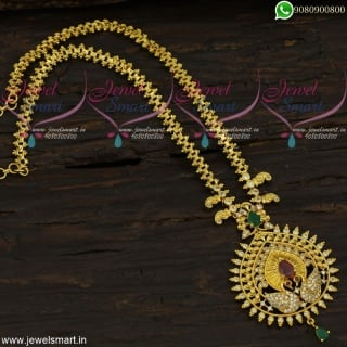 Gold Chain Design For Women With Pendant Latest Imitation Collections Online CS21763