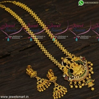 Gold Covering Temple Jewellery New Arrivals Dollar Chain Designs For Ladies Online Shopping CS23955