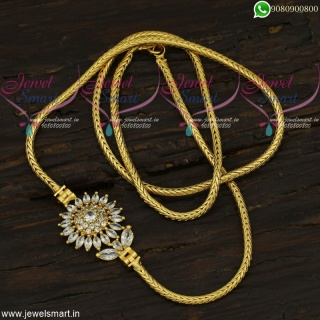 Gold Design Chain for Ladies Jewellery With Mugappu New Fashion Online C21961