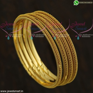 Gold Plated Bangles For Daily Use Indian Imitation Jewellery Shop OnlineB21818