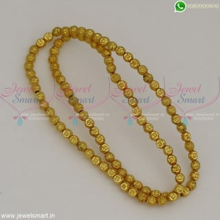 Golden Beads For Jewellery Making Fancy Design 4 MM Size Gold Plated Online