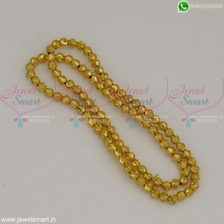 Designer Golden Beads For Jewellery Making Fancy 4 MM Size Gold Plated Online JB22526