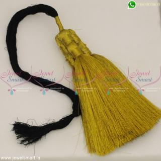 Golden Jari Thread Accessories for Hair Jadai Kunjalam Simple Low Price Online