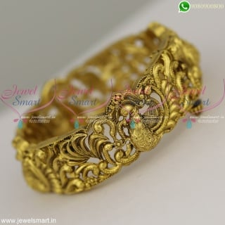 Gorgeous Nakshi Peacock Bangles Design Antique Gold Jewellery Artificial Models