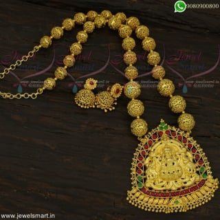 Gorgeous Temple Jewellery Handcrafted Beaded One Gram Gold Designs Online NL22427