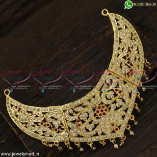 Gorgeous Traditional Gold Choker Necklace Design Getti Metal Stone JewelleryNL23005