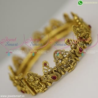 Graceful Imitation Temple Jewellery Antique Gold Bangles Design Bracelets