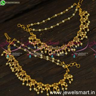 Hair Accessories for Women Champaswaralu New Bahubali Ear Chains Mattal Online EC24563