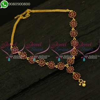 Half Necklace Design Gold Plated Real Look Imitation Jewellery