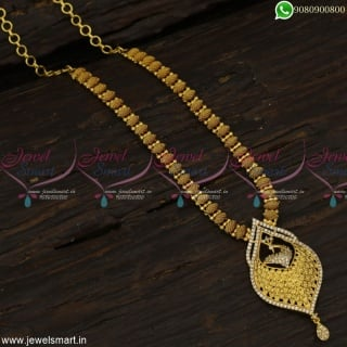 Handcrafted Gold Plated Necklace New Designs One Gram Gold ChainsOnline NL23205